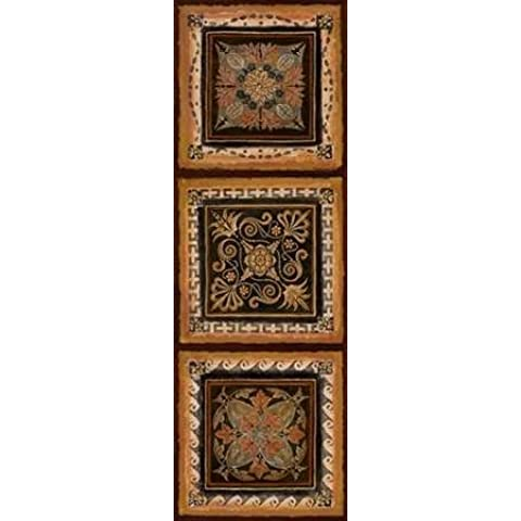 Folk Art II dal Tava Studios-Stampa su tela in carta e decorazioni disponibili, Tela, SMALL (12 x 36 Inches ) - Folk Art Wall Hanging