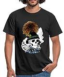 Spreadshirt Oktoberfest Schädel Wiesn Skull Männer T-Shirt, XL, Schwarz