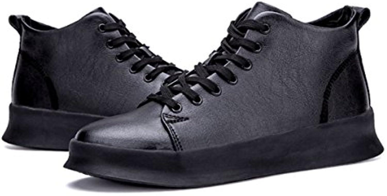 LYZGF Zapatos De Cuero De Encaje De Moda De Moda Para Hombres Jóvenes De Primavera Y Otoño,Black-43