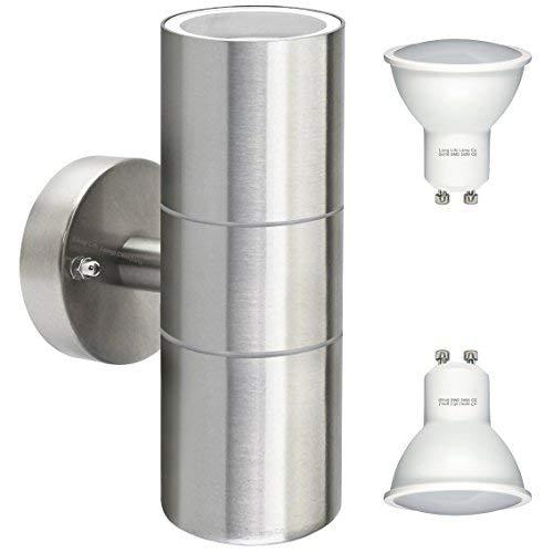 Long Life Lamp Company - Doppia lampada da parete a LED, 8 W, Zenon lighting collection, Certificazione IP65, elettrico