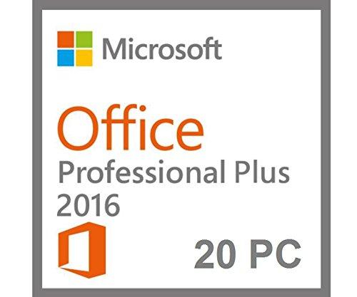 Preisvergleich Produktbild Microsoft Office 2016 Professional Plus [20 PC / User] Lizenz Key ohne Datenträger Vollversion VL
