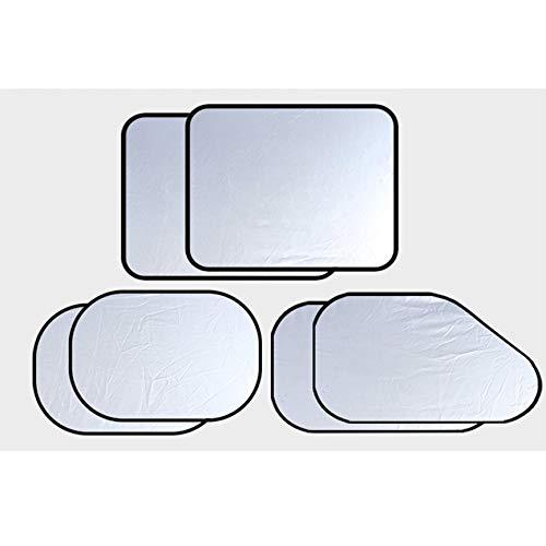 VCB Pare-Brise Pare-Brise Pare-Brise Pare-Soleil Protection UV Anti-UV Se Pliante, 6 pièces - Argent
