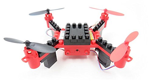 Flytec T11 DIY Building Blocks Drone Helicopter 2.4G 4CH Mini Drones 3D DIY Bricks Creative Quadcopter DIY Educational Toy Red