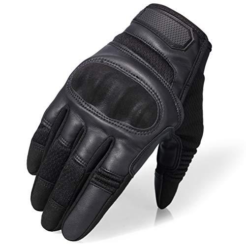 Guanti da moto in pelle touchscreen Guanti antiscivolo a dita rinforzate antiscivolo Guanti protettivi per Motocross da competizione sportiva da esterno