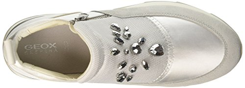 Geox Damen D Gendry A Sneaker Elfenbein (Off White)