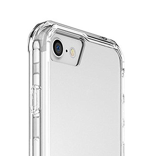 MagiDeal Transparente Weiche Schutzhülle Rahmen mit Airbagfunktion Anti-Tropfen Für Iphone 7 / 7 Plus - Schwarz Für iphone 7 Plus Weiß Für iphone 7