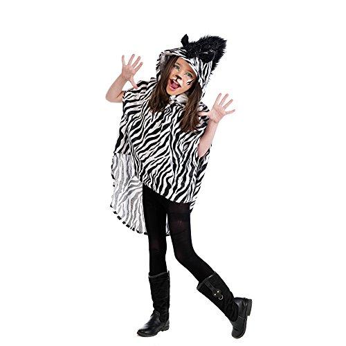 Preisvergleich Produktbild Limit Kinder-Kostüm Poncho Zebra 11-13 Jahre (MI931) NEU