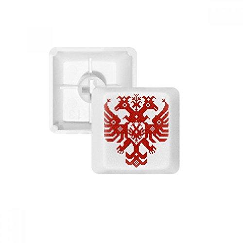 Adler-tastatur (DIYthinker Russland National Emblem Adler PBT Keycaps für mechanische Tastatur Weiß OEM Keine Markierung drucken)