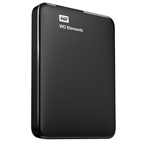 WD Elements - Disco duro externo de 1 TB (USB 3.0), color negro