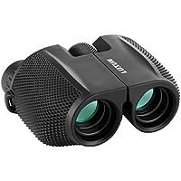 Prismáticos Binoculares, SGODDE Impermeables al Aire Libre Powerview Compacto Foco Fácil con el Caso para el Senderismo al Aire Libre, Tirando, Viajando, Observación de Pájaros (10 x 25)