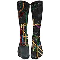 Sport Athletic Lightweight Tube Long Knee High Socks Men&Women New York Subway Map All Stocking Shoe Breathable... preisvergleich bei billige-tabletten.eu
