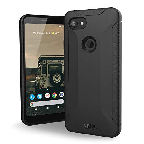 Urban Armor Gear Scout Hülle für das Google Pixel 3A XL nach US-Militärstandard - von Google zertifiziert [Verstärkte Ecken, Sturzfest, Vergrößerte Tasten] - Schwarz