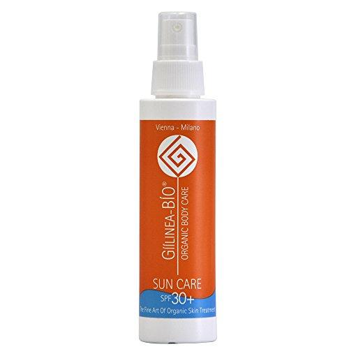 GííLinea-bíO Organic Sun Care 30+, 125 ml, zertifizierte Bio-Kosmetik, vegan, ohne für Lymph-System belastende UV Filter, natürlicher Schutz für Babys geeignet