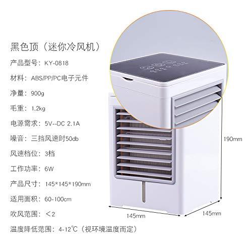 JUNLFJ Klimaanlage,Schwarzer Tragbarer Wassergekühlter Miniventilator-Innenministerium-Desktop-USB-Kleiner Luftkühler Für Hauptschlafzimmer-Wohnzimmer -