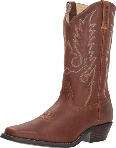 Durango Men's Gambler Western Boot Square Toe Brown 9.5 D -