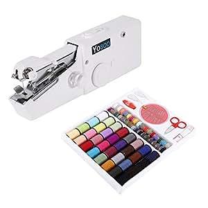 Mini macchina da cucire portatile manuale + scatola 64