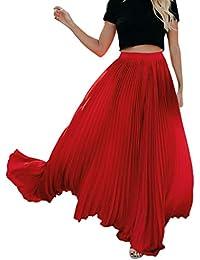 Holywin Belle Nouveau Mode Femme Taille Haute Jupe Longue plissée Vintage  Vintage Ample léopard 1490fe9616d