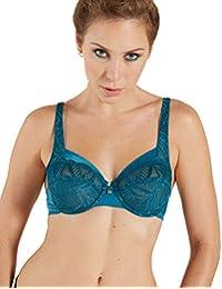 e08f229f25 Barbara 42511-354 Women s Kentia Blue Solid Colour Lace Non-Padded  Underwired Soft Bra