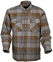 Scorpion Mens Covert Flannel Long-Sleeve Shirt X-Large Tan/Brown