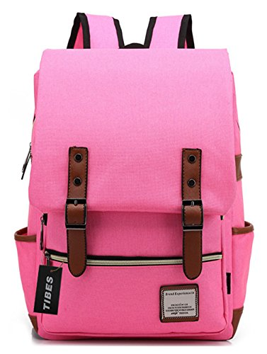 tibes-tissu-oxford-sac-a-dos-pour-lecole-secondaire-college-student-rose