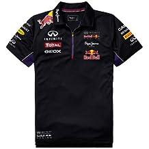 Red Bull Racing Teamline Polo Técnico para Hombre, Azul/Rojo, M