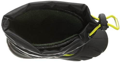 Sorel Flurry Textile Schneestiefel Black-Chartreuse