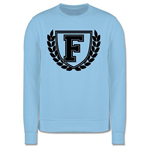 Anfangsbuchstaben - F Collegestyle - Herren Premium Pullover Hellblau