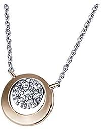 Goldmaid Damen-Halskette 585 Rotgold 7 Diamanten 0,06 ct. Kettenanhänger Schmuck Diamantkette