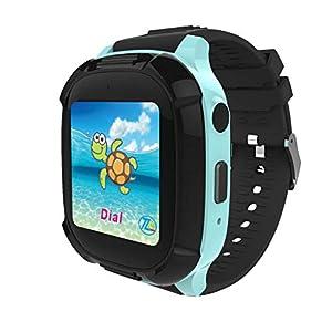 Kongnijiwa Watch Series Smart Watch Kinder Echtzeit-Tracking-Armbanduhr Wasserdichte Baby-Uhr Voice Chat Breathing Lamop Kinder Smartwatch, Farbe schwarz