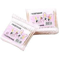 Aikesi 200 Piezas Bastoncillos de algodón Cabeza de Seguridad estéril Biodegradable Vegan Sustentable