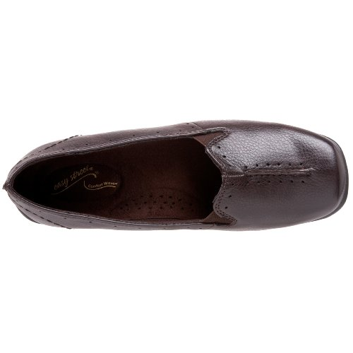 Easy Street Women's Purpose Slip-On,Black,10 W US brown