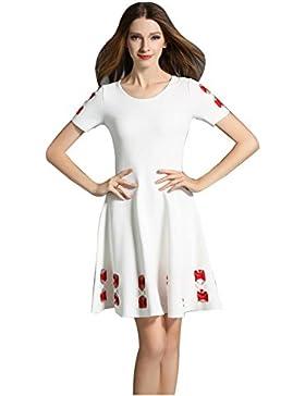 2017 mujeres del boutique del verano nuevas hacen punto la falda de la palabra de la cabeza del asimiento de la...