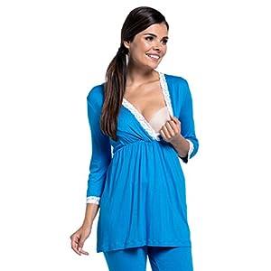 Zeta-Ville-Premam-CamisnBata-Pijama-Mezcla-Y-COMBINA-para-Mujer-591c-Turquesa-EU-44-2XL