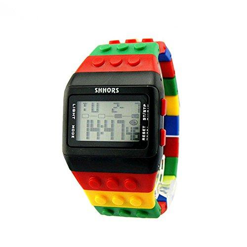Preisvergleich Produktbild Uhr Uhren Sportuhr armbanduhr DAY.LIN Unisex bunte digitale Armbanduhr (B)