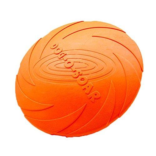 Pixnor Hunde Frisbee / Dog Disc Naturkautschuk schwimmfähig Frisbee Haustiere Fetch Spielzeug Silikon Dog Frisbee Training fliegen