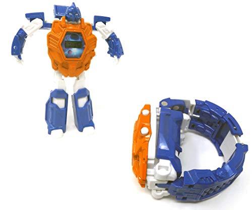 Brigamo Transform Robot Kinderuhr Armbanduhr verwandelt Sich im Handumdrehen in einen Roboter (orange)