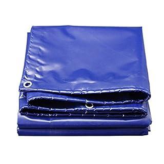 Zfggd Tarpaulin, Protective Shed Cloth, Groundsheet Tarpaulin,aluminium Eyelets, 550 G/m2, Colour Blue (Color : Blue, Size : 3x6M)
