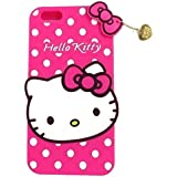 Explocart Hello Kitty Cute Silicone with Pendant Back Cover for Oneplus 5/1+5 - (Pink)