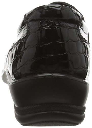 Paddle Damen Skye Slipper, Schwarz Black (43 Black Croc)