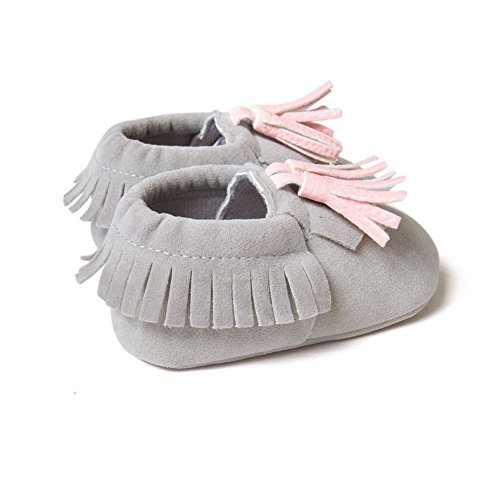 BOBORA Bambino ragazze ragazzi pu mocassino Suola morbida scarpe piatte nappe presepe scarpe precamminatore C