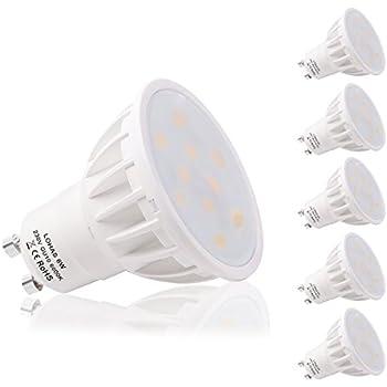 LOHAS 5 x 6W GU10 Bombilla LED, Lámparas Halógenas Equivalentes a 50W, Blanco Diurno