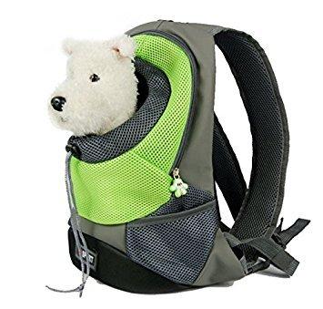 Pet Carrier, atmungsaktiver doppelter Schultergurt- Rucksack für den Transport von Tieren Katze Hunde Welpen- Reisen, Radfahren, Wandern, Einkauf