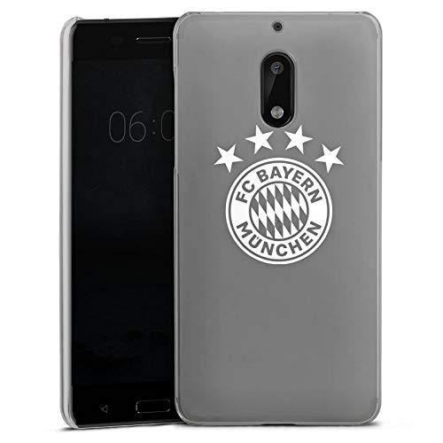 DeinDesign Nokia 6 2017 Hülle Case Handyhülle FC Bayern München ohne Hintergrund 4 Sterne