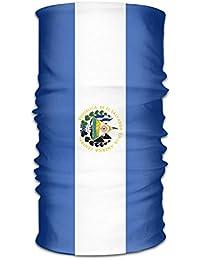 Pengyong El Salvador Bandera Unisex Moda Secado Rápido de Microfibra Tocado Exterior Magic Bufanda Cuello Bufanda