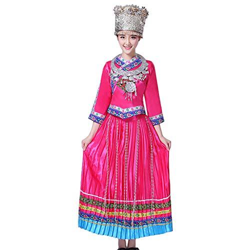 Daytwork Tanz Performance Anzug - Frauen Bestickt Bühnenshow Kostüm Chinesischer Stil Nationale Minderheit Miao Tanz Yao - Chinesischen Nationalen Kleid Kostüm