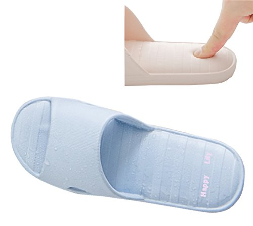 Zapatillas de ducha y piscina antideslizantes, aptas para interior de la casa, suela gruesa, de Happy Lily, ruandisliponslipperblue36-37, azul, uk w 4-5/ eu36-37