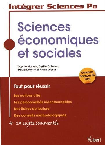 Les sciences économiques et sociales à Sciences Po par Collectif