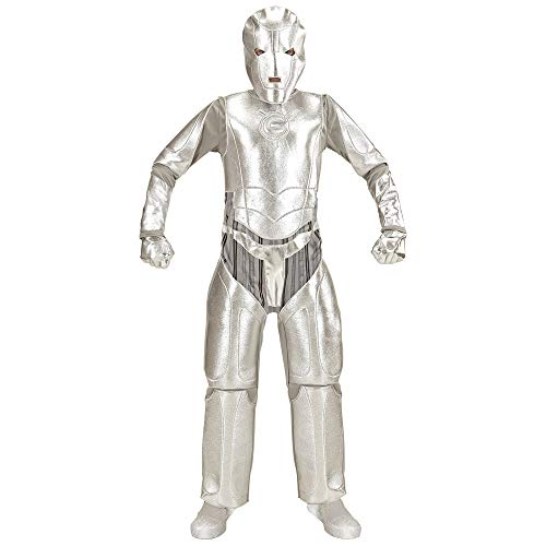 Invader Space Kostüm - WIDMANN 19038 Kinderkostüm Space Invader, Jungen, Silber, 158