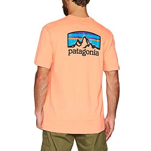 Patagonia Herren M's Fitz Roy Horizons Responsibili-Tee Hemd, Pfirsich-Sorbet, L -