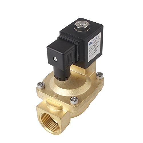 "TOP G1"" Zoll Magnetventil AC 230V Stromlos Offen NO(0,3~16Bar) DN25 Elektrisches IP65 Messing Servogesteuert, Wasser Gas Öl usw."